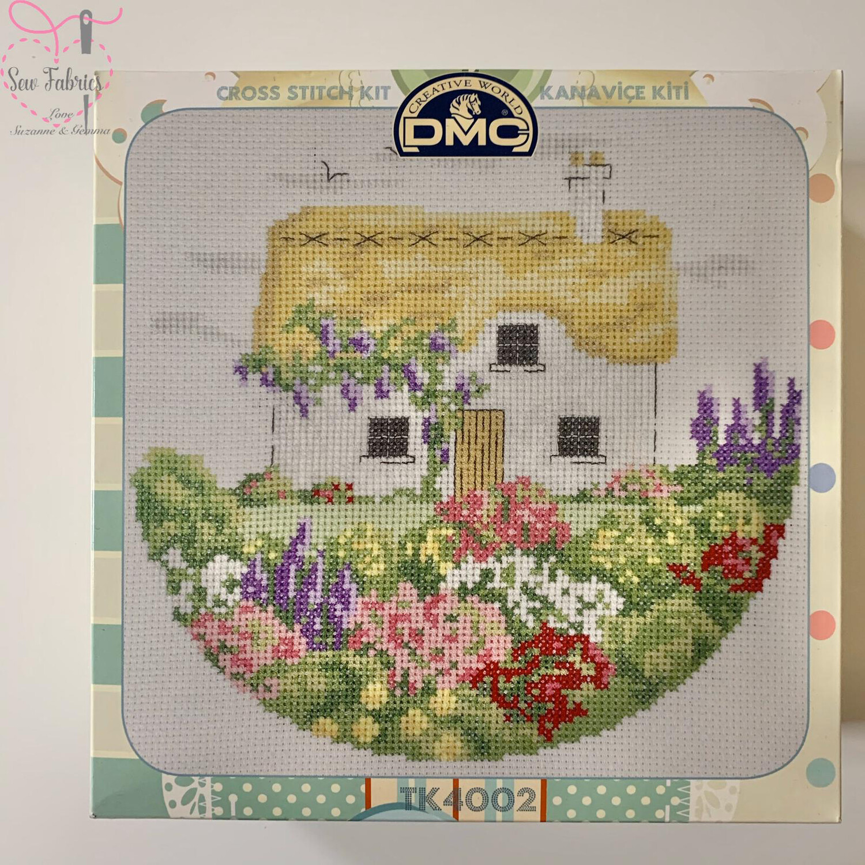 Country Cottage DMC Cross Stitch Kit with Metal Presentation Box TK4002