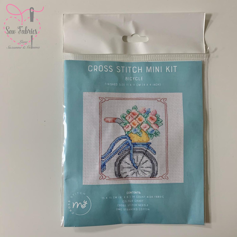 "Bicycle My Cross Stitch Mini Kit 6""x6"""