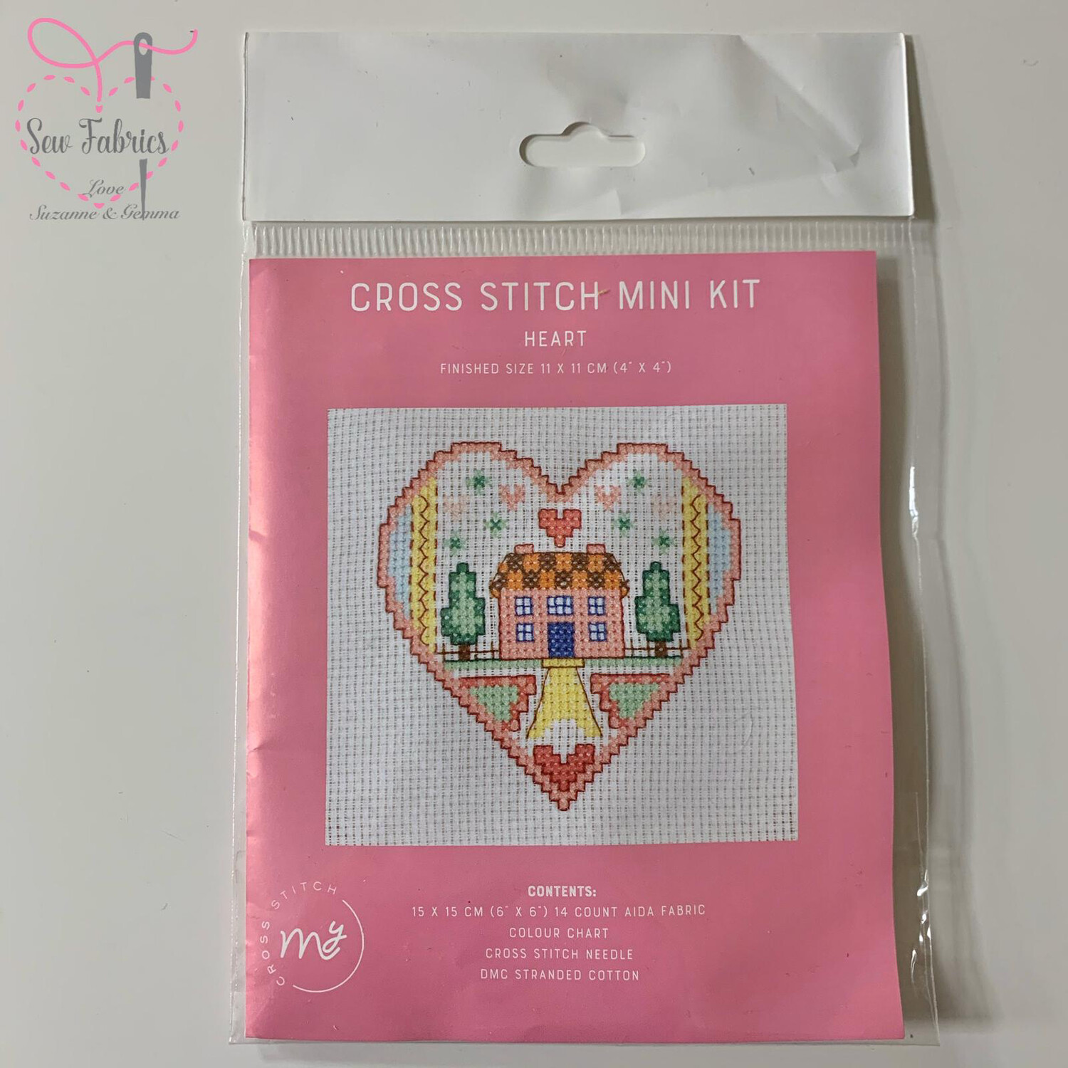 "Heart My Cross Stitch Mini Kit 6""x6"""