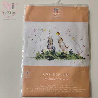 Gaggle of Geese, My Cross Stitch - Charlotte Rennie Cross Stitch Kit