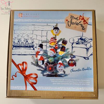 Make Christmas, Character Baubles Crochet Kit