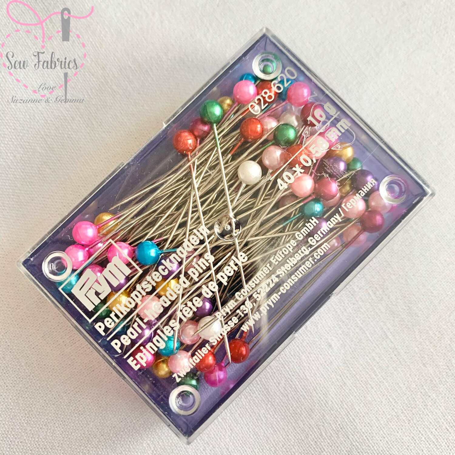 Prym Assorted Pearl Head Pins, Gold 38mm, Pack of approx. 40