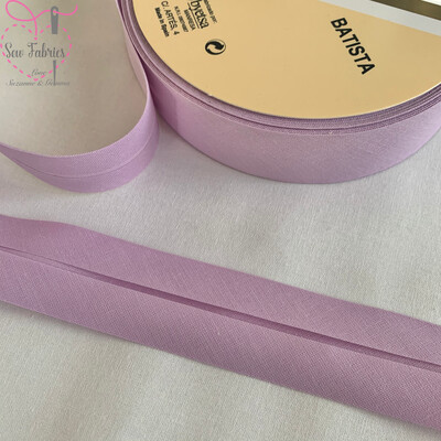 25 metre reel of Light Mauve Plain Polycotton Bias Binding 30mm width