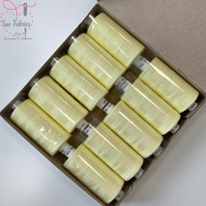 10 x 1000y Coats Moon Thread Box - Lemon M099