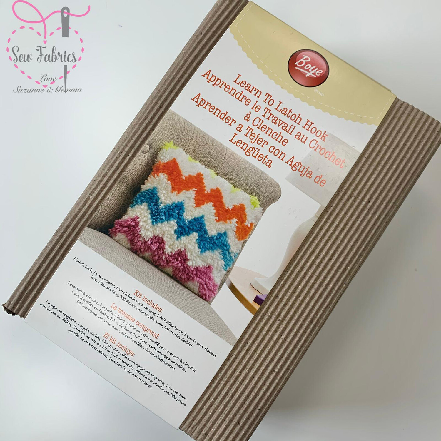 Latch Hook Pillow Project Kit Pack