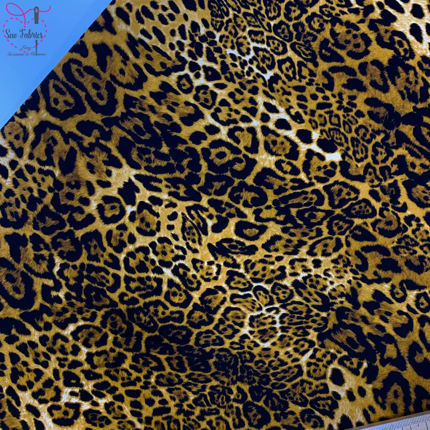 Rose & Hubble Leopard Print 100% Cotton Poplin Fabric, Animal Print Material