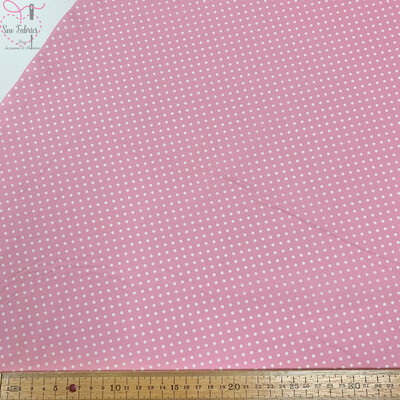Rose and Hubble Pale Pink Polka Dot Fabric 100% Cotton Poplin Spot Geometric Material