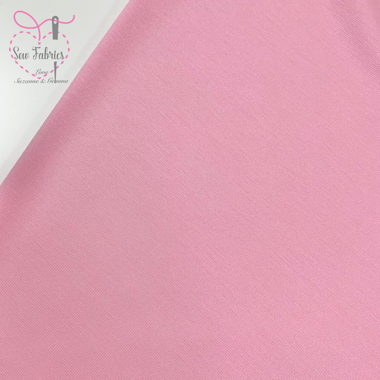 Pink Ponteroma Jersey Fabric, Solid Regular Ponteroma