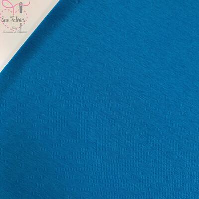 Airforce Blue Ponteroma Jersey Fabric, Solid Regular Ponteroma