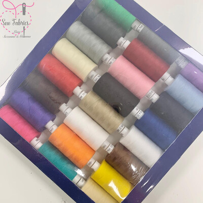 Coats Standard Assorted Colour Moon Polyester Sewing Thread Set 1000yds x 24 reels
