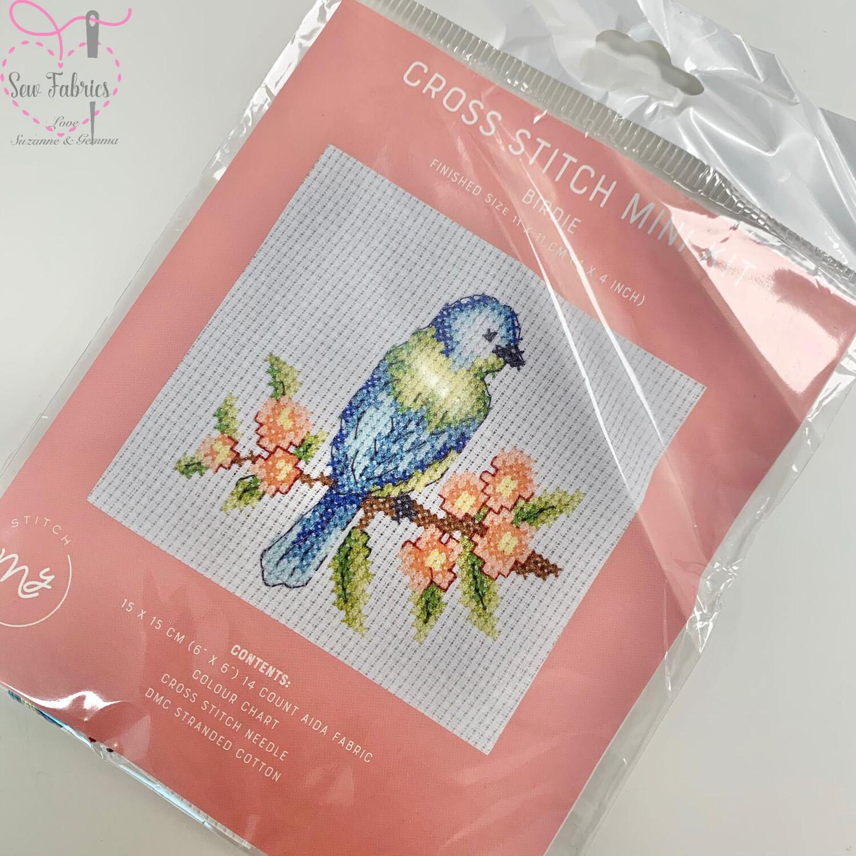 """Birdie - My Cross Stitch Mini Kit 6""""x6"""""""