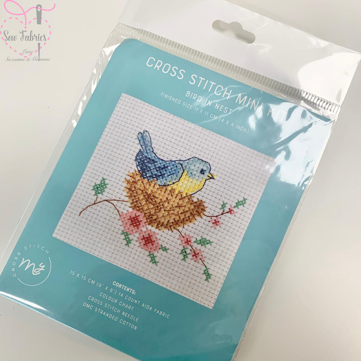 "Bird in Nest - My Cross Stitch Mini Kit 6""x6"""