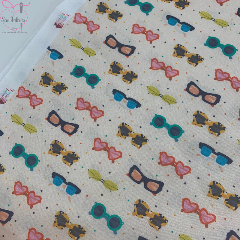 Cream Sunnies Design, The Little Johnny Collection Summer Sunglasses Fabric 100% Cotton 59
