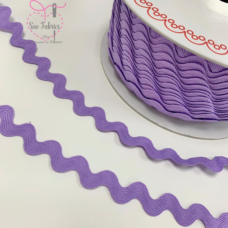 Bertie's Bows Lilac Purple 13mm Large Ric Rac Trim, Edging, Fringe, Braid, Craft