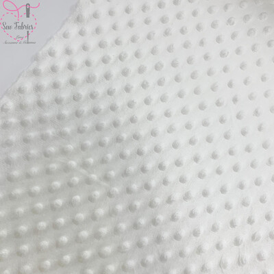 Off White/Ivory Minky Dots Fabric, Dimple Fleece, Baby Blanket Material