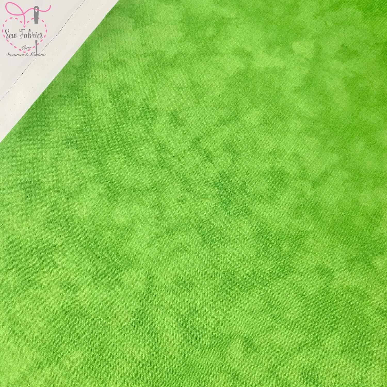 John Louden Lime Blender 100% Cotton Fabric, Green Mixer Material