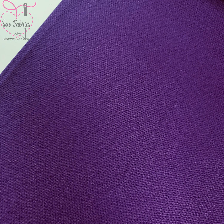 Aubergine Purple 100% Craft Cotton Solid Fabric Plain Material