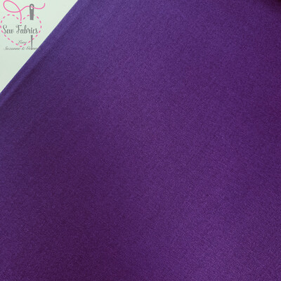 Aubergine Purple 100% Craft Cotton Solid Fabric Plain Material
