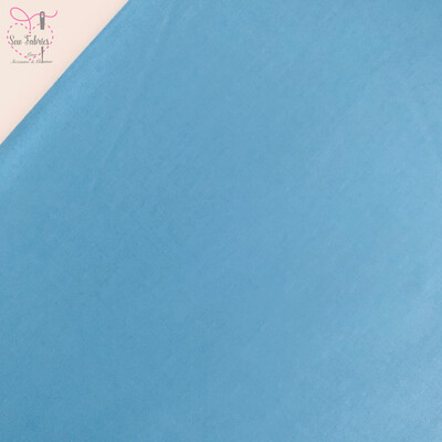 Cornflower Blue 100% Craft Cotton Solid Fabric Plain Material