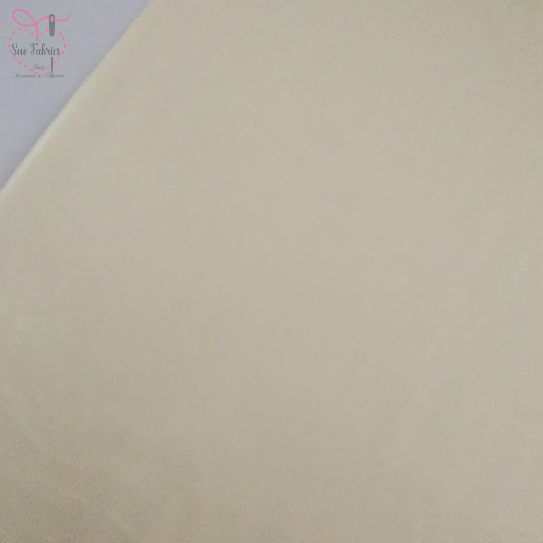 Cream 100% Craft Cotton Solid Fabric Plain Material