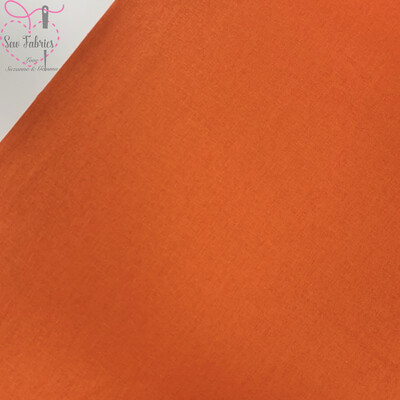 Orange 100% Craft Cotton Solid Fabric Plain Material