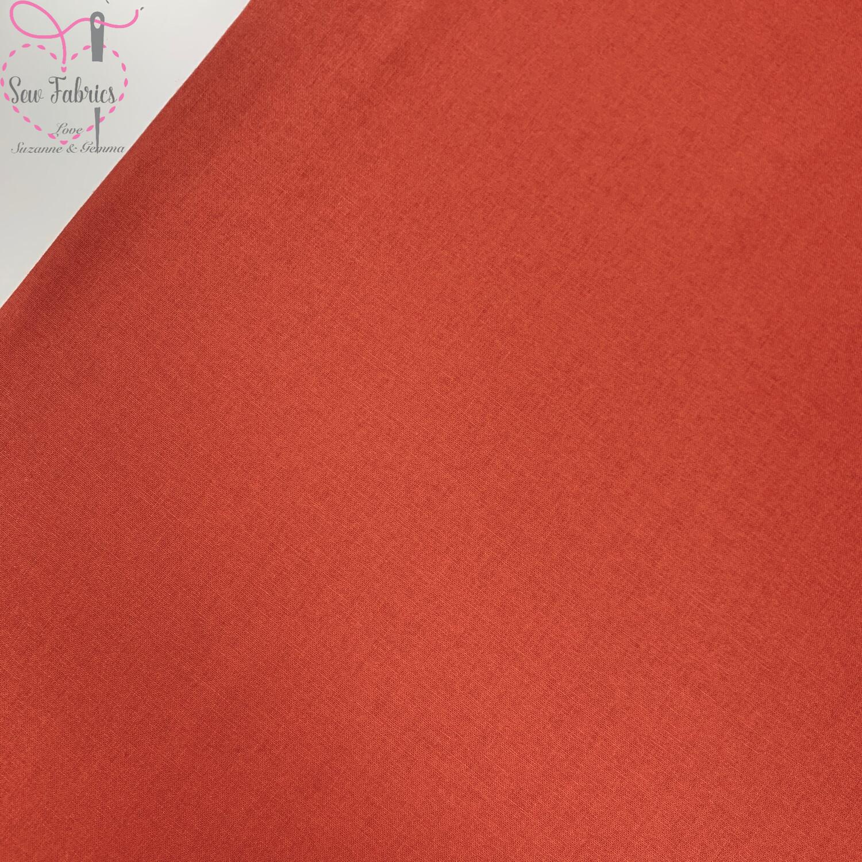 Cinnamon Orange 100% Craft Cotton Solid Fabric Plain Material