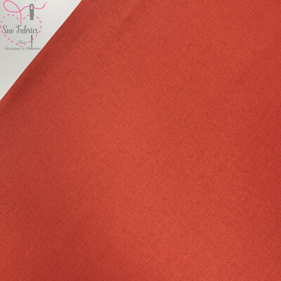 Cinnamon Orange 100% Craft Cotton Solid Fabric Plain Material