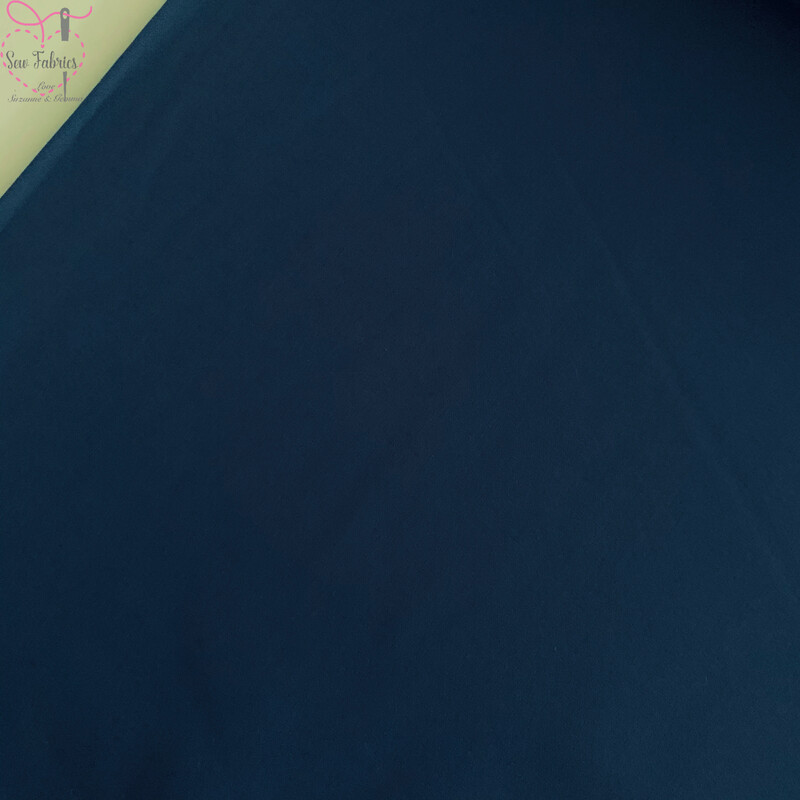 Rose & Hubble Midnight Blue 100% Cotton Poplin Solid Fabric Plain Material
