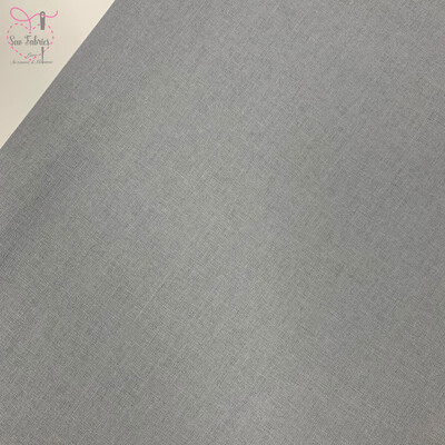 Silver Grey 100% Craft Cotton Solid Fabric Plain Material