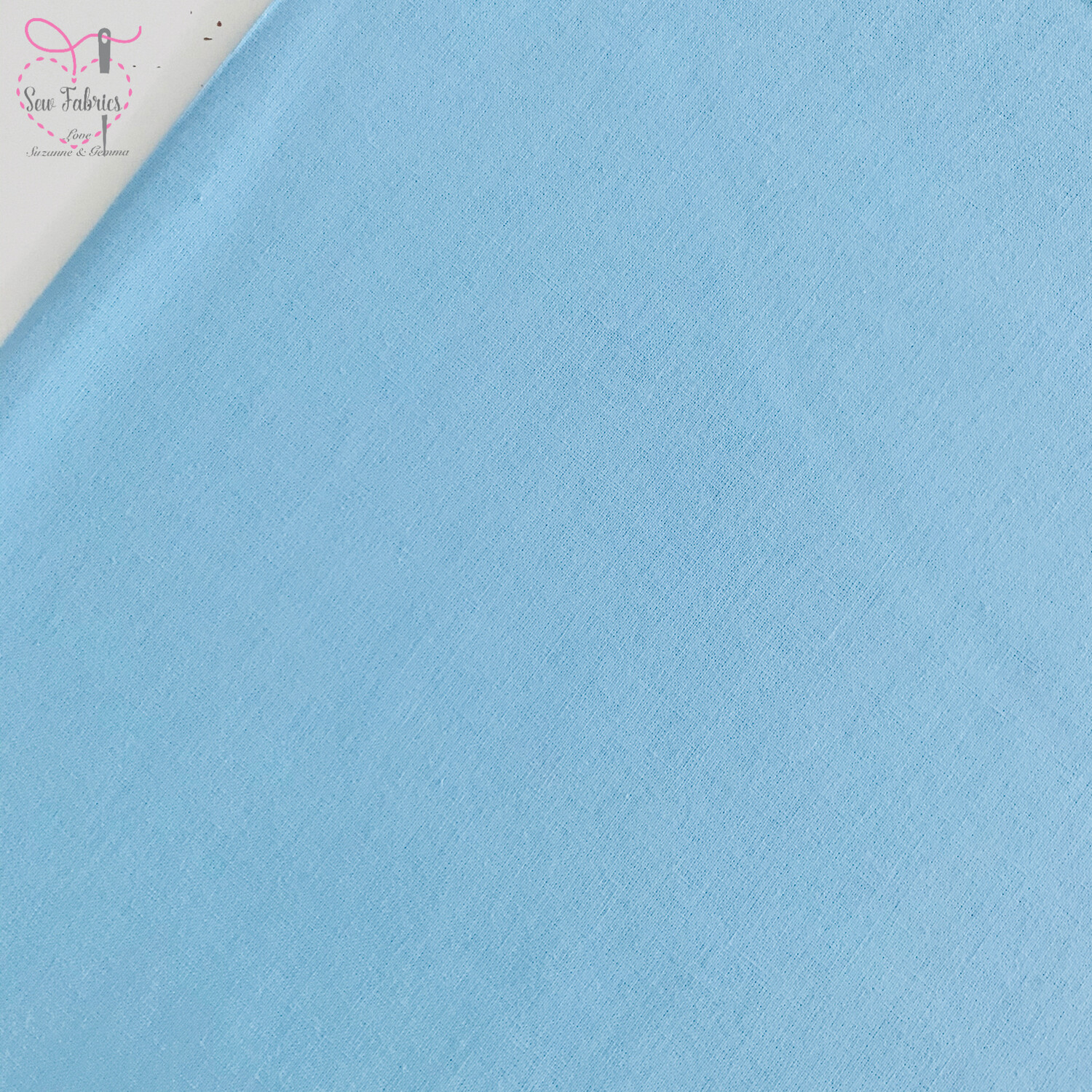 Sky Blue 100% Craft Cotton Solid Fabric Plain Material