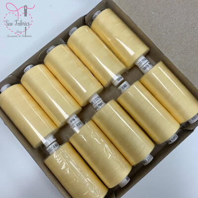 10 x 1000y Coats Moon Thread Box - Pale Lemon M008