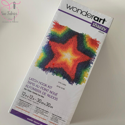 Shaggy Star - Wonderart Latch Hook Kit 12 x 12