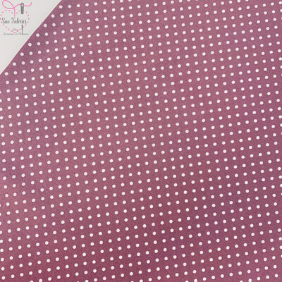 Rose and Hubble Rose Pink Polka Dot Fabric 100% Cotton Poplin Spot Geometric Material