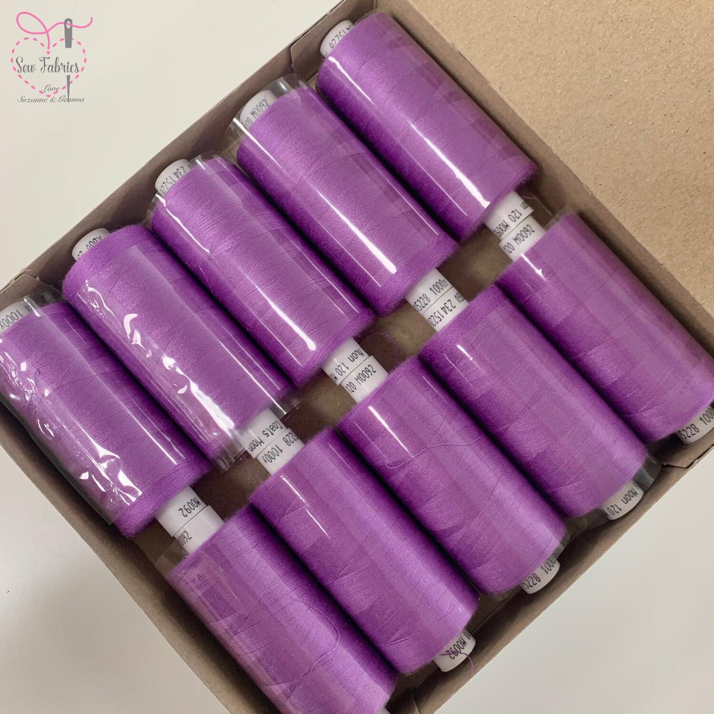 10 x 1000y Coats Moon Thread Box - Amethyst M092