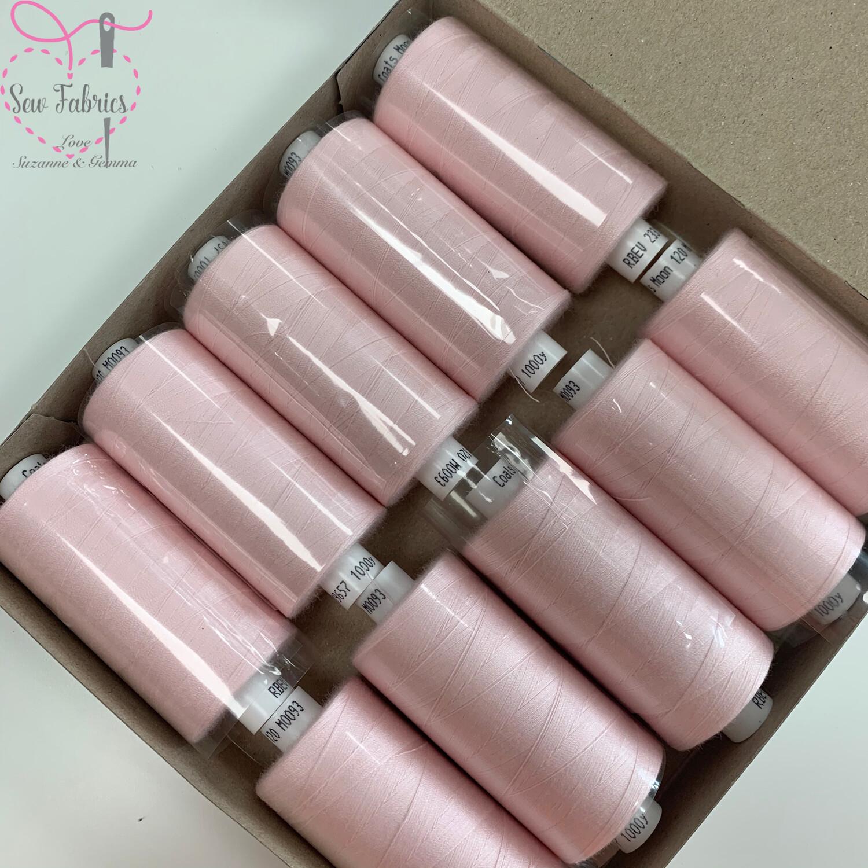 10 x 1000y Coats Moon Thread Box - Ice Pink M093