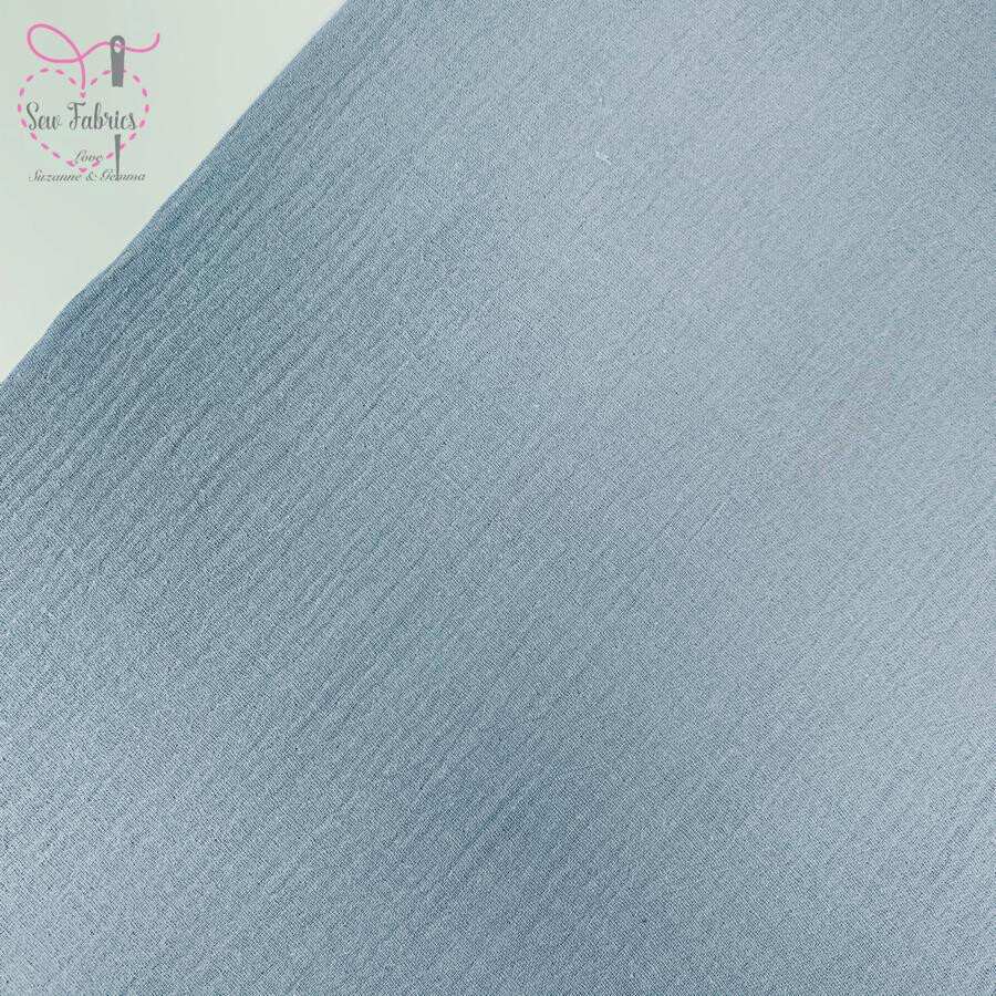 Baby Blue Double Gauze Solid Fabric, 100% Cotton Material