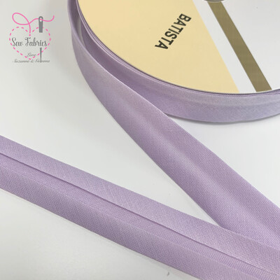 18mm Lilac Plain Bias Polycotton Bias Binding x 25mts Reel
