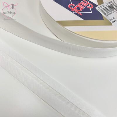 18mm Bridal White Plain Bias Polycotton Bias Binding x 25mts Reel