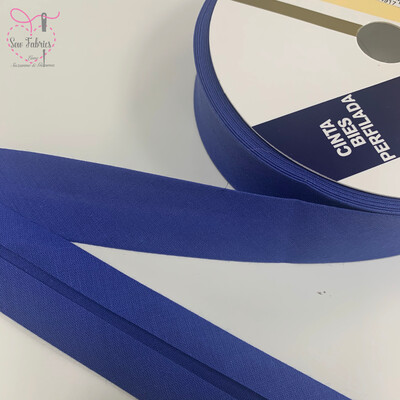 25 metres reel of Bluebell Plain Polycotton Bias Binding 30mm