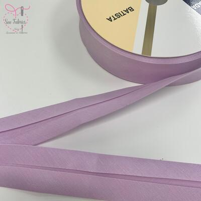 25 metres reel of Lilac Plain Polycotton Bias Binding 30mm