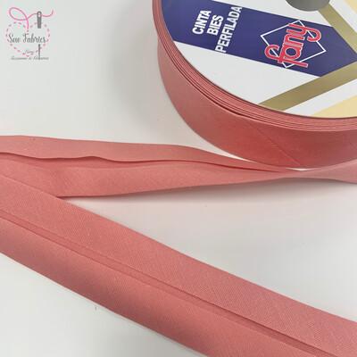 25 metres reel of Carnation Pink Plain Polycotton Bias Binding 30mm