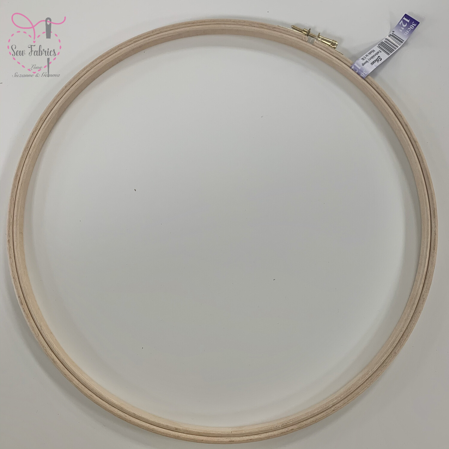 "12"" Embroidery, Sewing Wooden Hoop"