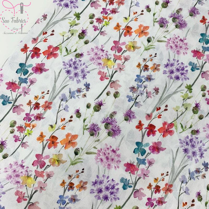 John Louden Floral Bouquet Fabric 100% Cotton 60