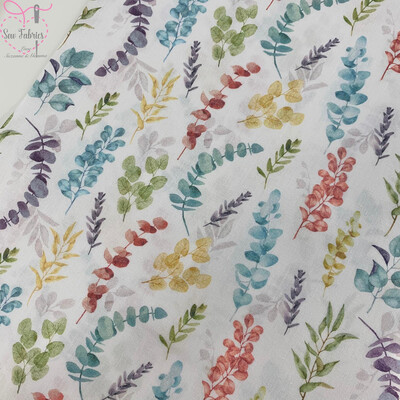John Louden Blue Eucalyptus Fabric 100% Cotton 60