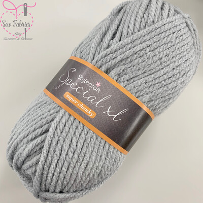 Stylecraft Special XL Super Chunky 100% Premium Acrylic Wool - Silver  Buy More Than 1 Ball & Get 30% Off With Code STYLE30