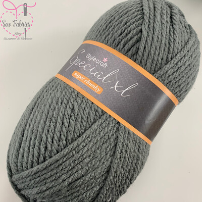 Stylecraft Special XL Super Chunky 100% Premium Acrylic Wool - Graphite Grey  Buy More Than 1 Ball & Get 30% Off With Code STYLE30