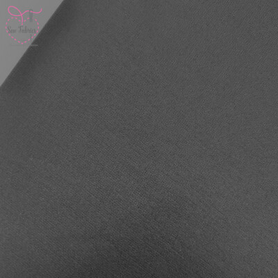 Black Ponte Roma Solid Jersey Fabric
