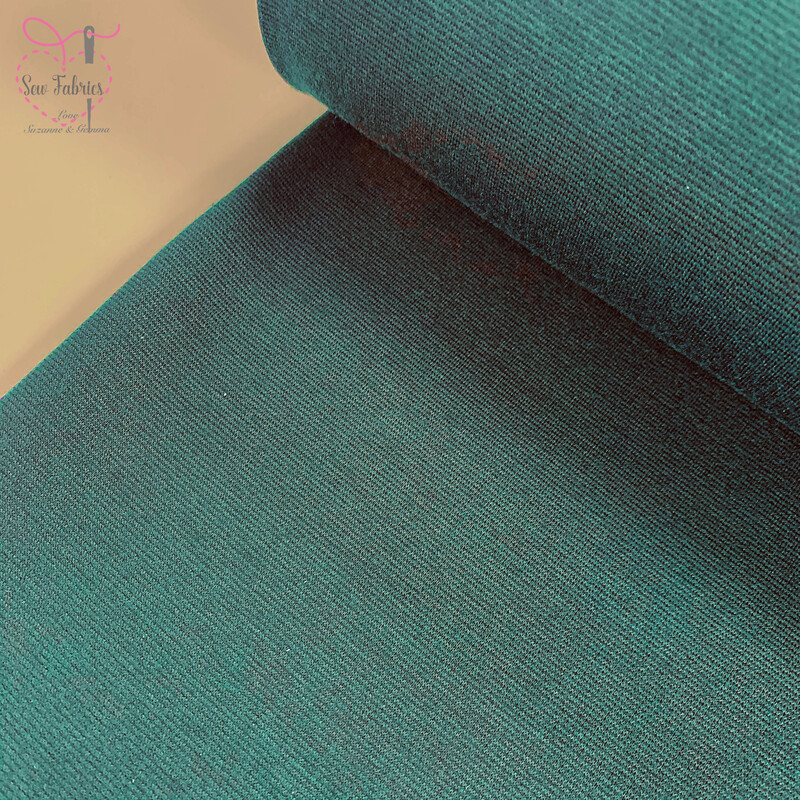 Bottle Green Ponte Roma Solid Jersey Fabric