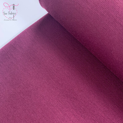 Wine Ponte Roma Solid Jersey Fabric