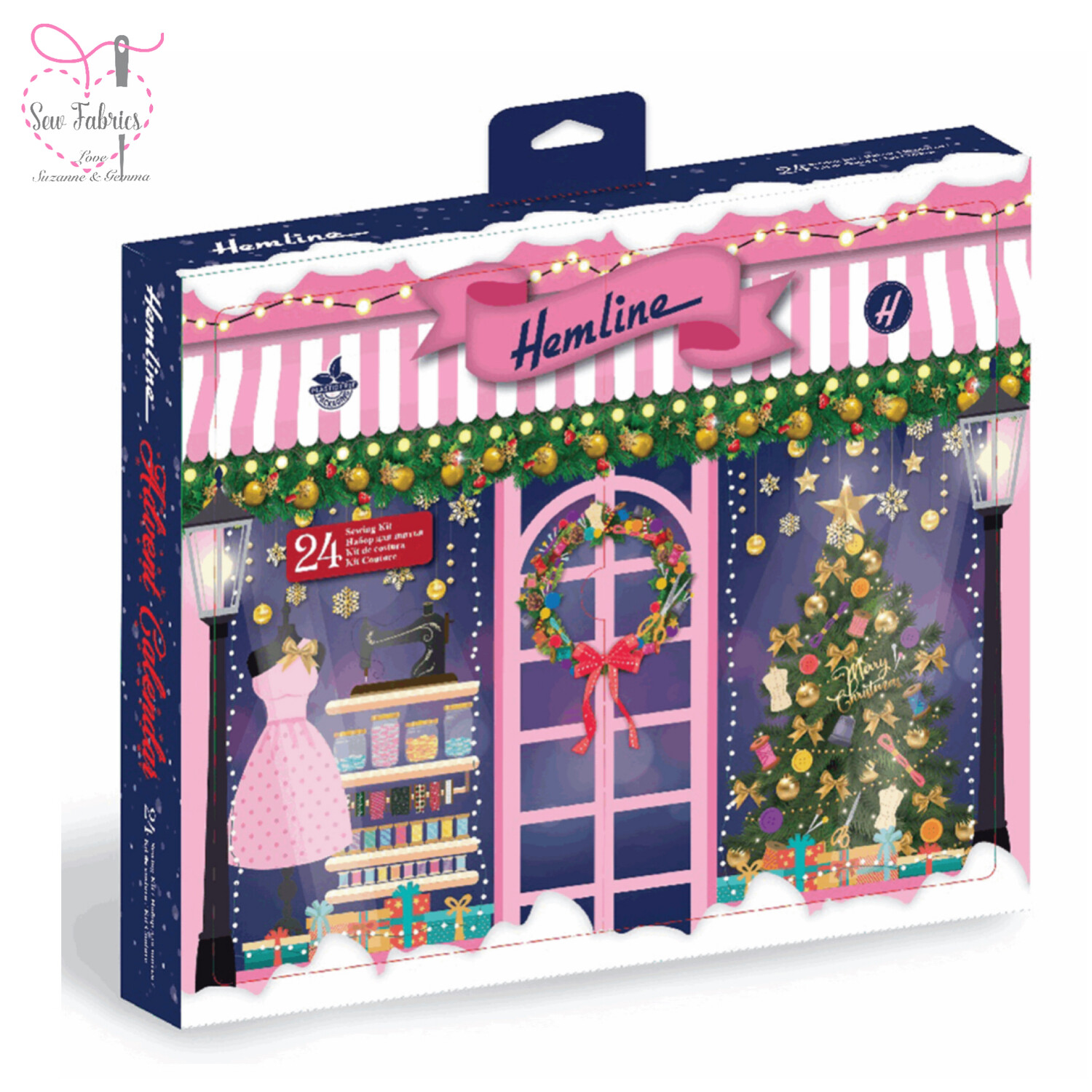 Hemline Advent Calendar With Contents, Christmas Sewing/Quilting Gift